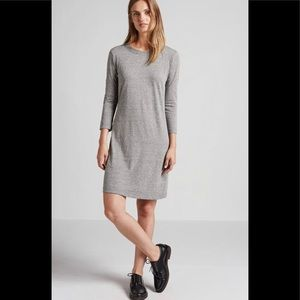 Current Elliott 3/4 Sleeve Tee Dress Gray